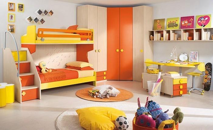 kinderzimmer-orange-eine-coole-einrichtung
