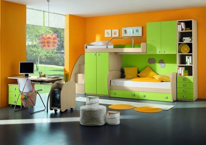 Kinderzimmer färblig gestalten: das fröhliche Orange