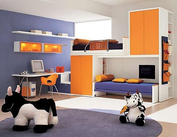 kinderzimmer f rblig gestalten das fr hliche orange. Black Bedroom Furniture Sets. Home Design Ideas
