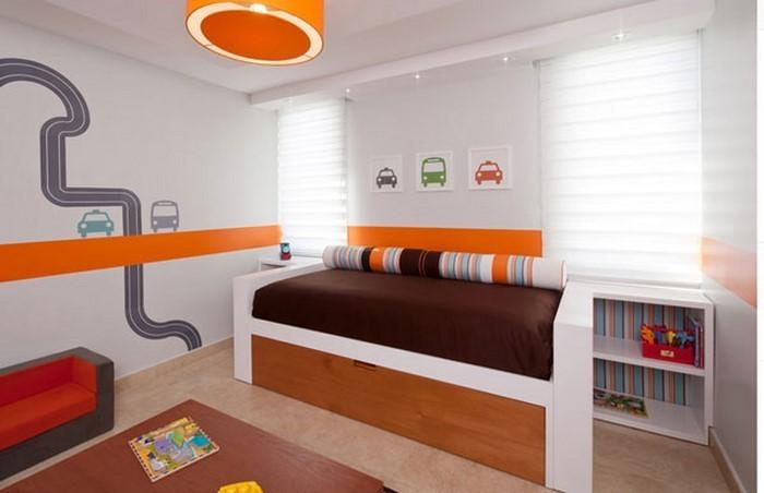 kinderzimmer-orange-eine-moderne-einrichtung