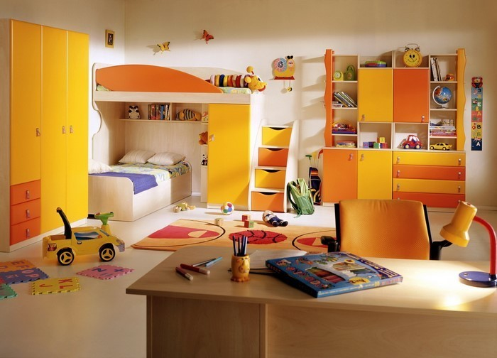 kinderzimmer-orange-eine-tolle-dekoration