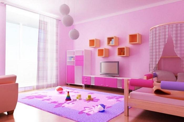 kinderzimmer-rosa-eine-auffaellige-einrichtung