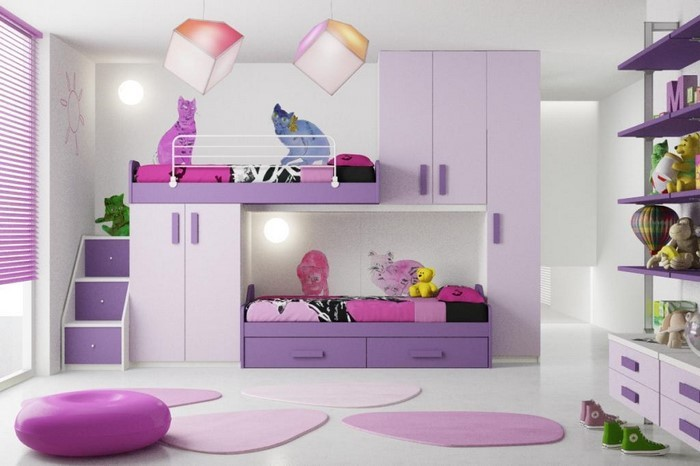 kinderzimmer wandgestaltung madchen lila die neuesten innenarchitekturideen. Black Bedroom Furniture Sets. Home Design Ideas