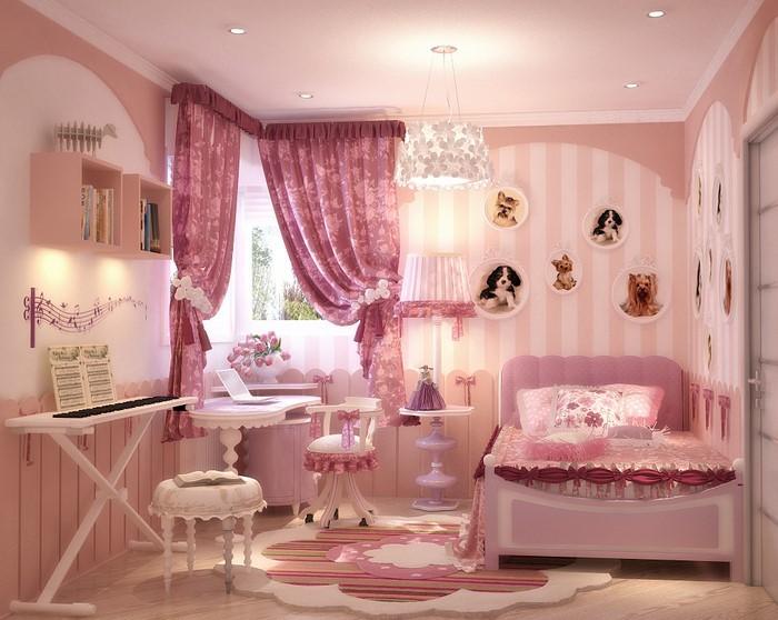 kinderzimmer wandgestaltung rosa: bord?re eule lila rosa ... - Kinderzimmer Rosa Gestalten