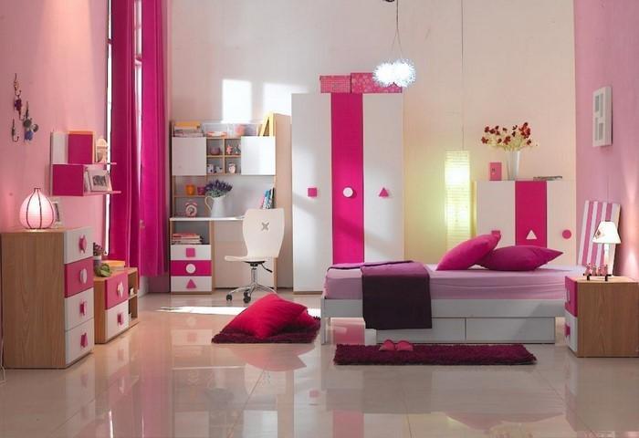 kinderzimmer streichen rosa lila raum und m beldesign. Black Bedroom Furniture Sets. Home Design Ideas