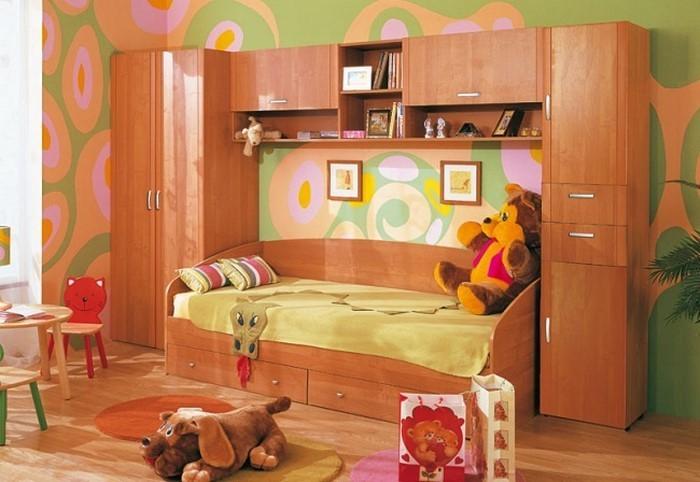 Kinderzimmer-farblich-gestalten-mit-Braun-Ein-auffälliges-Interieur
