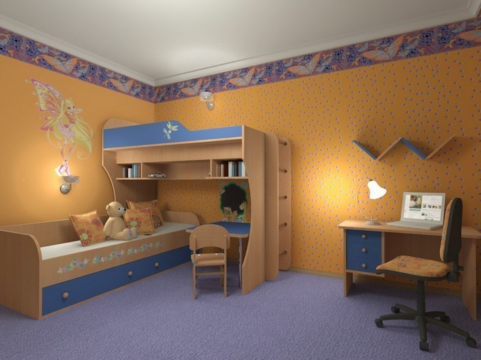 kinderzimmer w nde farblich gestalten carprola for. Black Bedroom Furniture Sets. Home Design Ideas