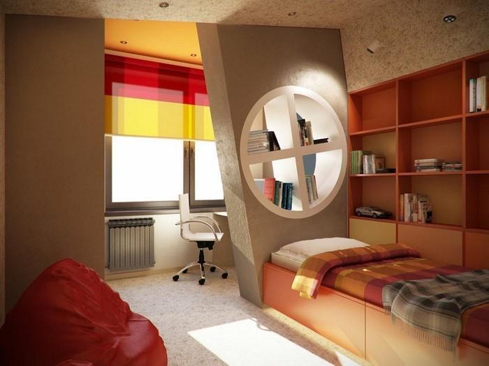 Kinderzimmer-farblich-gestalten-mit-Braun-Eine-auffällige-Dekoration