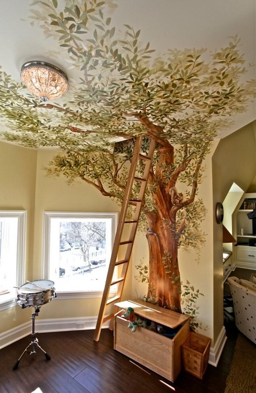 Kinderzimmer-farblich-gestalten-mit-Braun-Eine-coole-Gestaltung