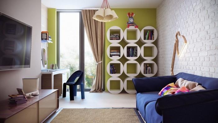 Kinderzimmer-farblich-gestalten-mit-Braun-Eine-kreative-Еinrichtung