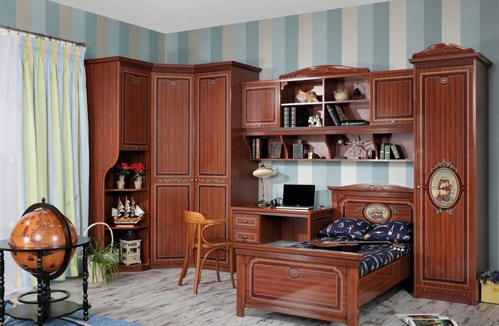 Kinderzimmer-farblich-gestalten-mit-Braun-Eine-verblüffende-Ausstattung