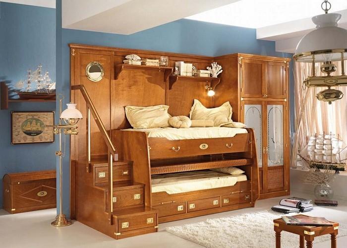 Kinderzimmer-farblich-gestalten-mit-Braun-Eine-wunderschöne-Еinrichtung