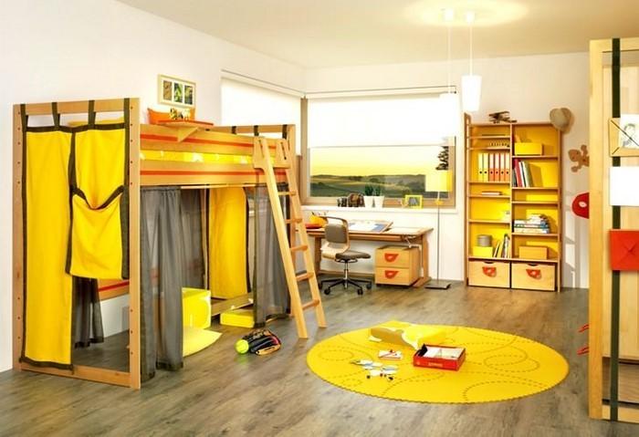 Kinderzimmer-gelb-Ein-außergewöhnliches-Interieur