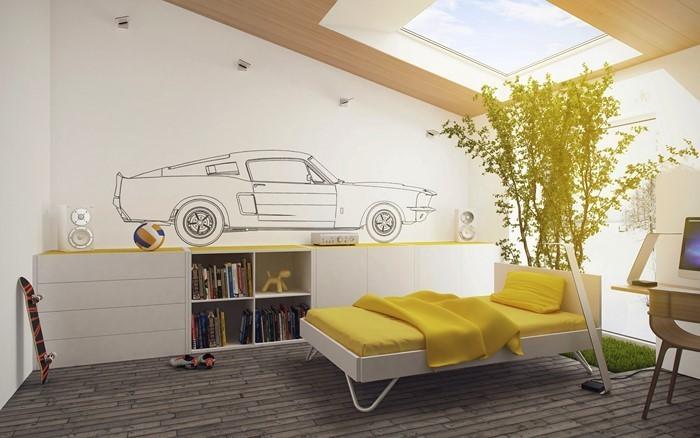 Kinderzimmer-gelb-Ein-cooles-Design