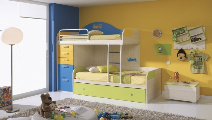 Kinderzimmer-gelb-Ein-cooles-Interieur
