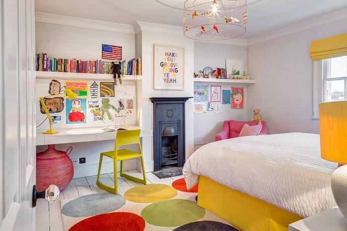 Kinderzimmer-gelb-Ein-kreatives-Interieur