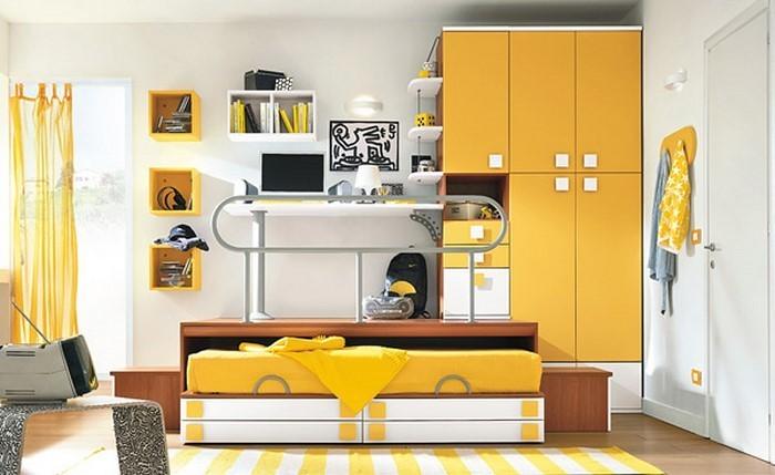 Kinderzimmer-gelb-Ein-tolles-Interieur