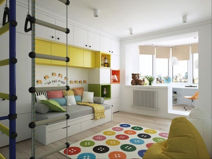 Kinderzimmer-gelb-Ein-wunderschönes-Interieur