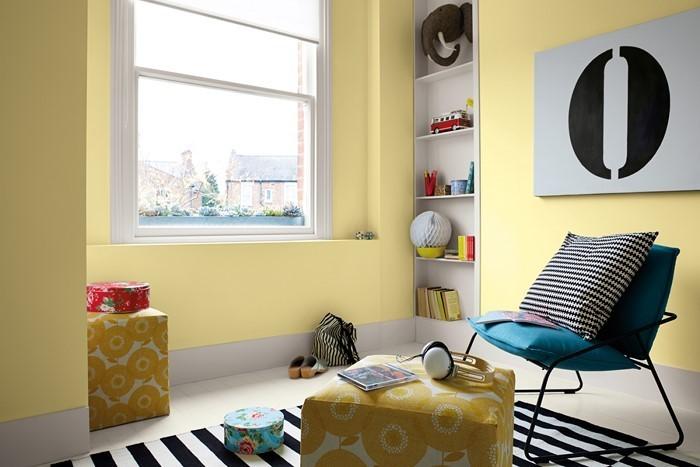 Kinderzimmer-gelb-Eine-außergewöhnliche-Еinrichtung