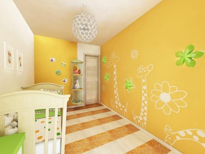 Kinderzimmer-gelb-Eine-außergewöhnliche-Ausstattung
