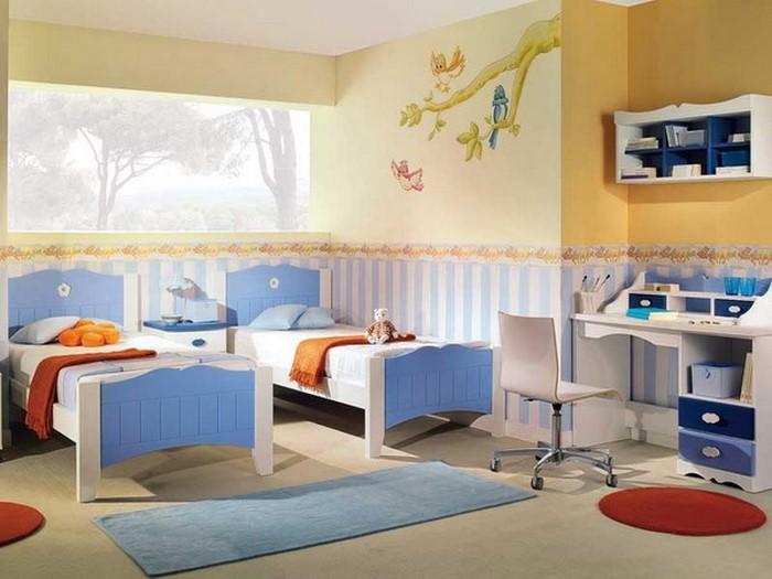 Kinderzimmer-gelb-Eine-außergewöhnliche-Deko