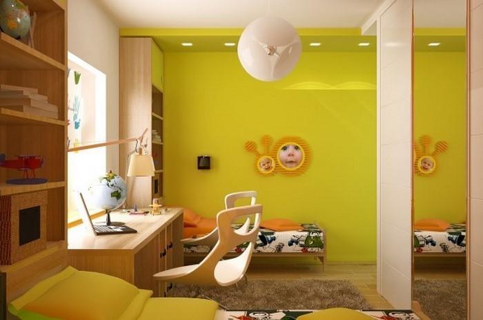 Kinderzimmer-gelb-Eine-außergewöhnliche-Entscheidung
