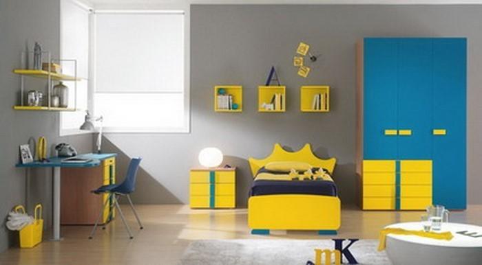 Kinderzimmer-gelb-Eine-auffällige-Еinrichtung