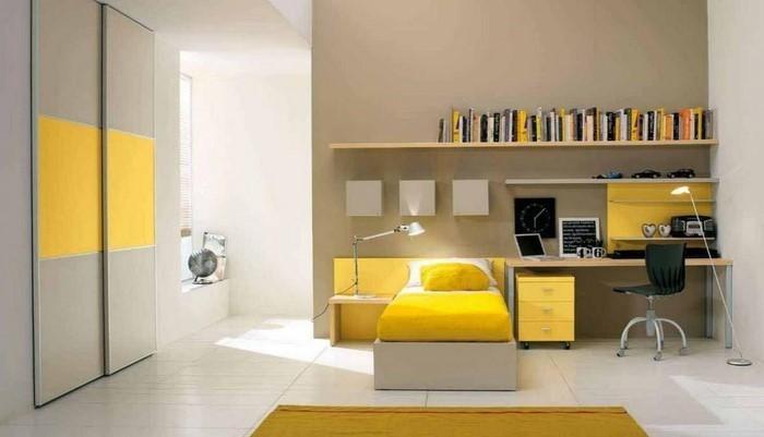 Kinderzimmer-gelb-Eine-auffällige-Ausstattung