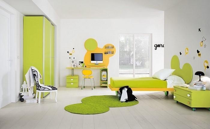 Kinderzimmer-gelb-Eine-auffällige-Deko