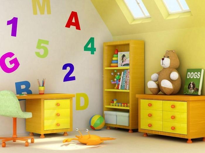 Kinderzimmer-gelb-Eine-auffällige-Entscheidung