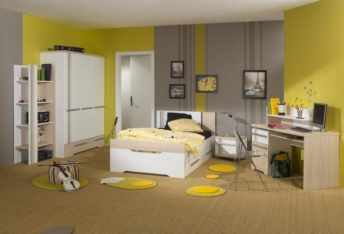 Kinderzimmer-gelb-Eine-auffällige-Gestaltung