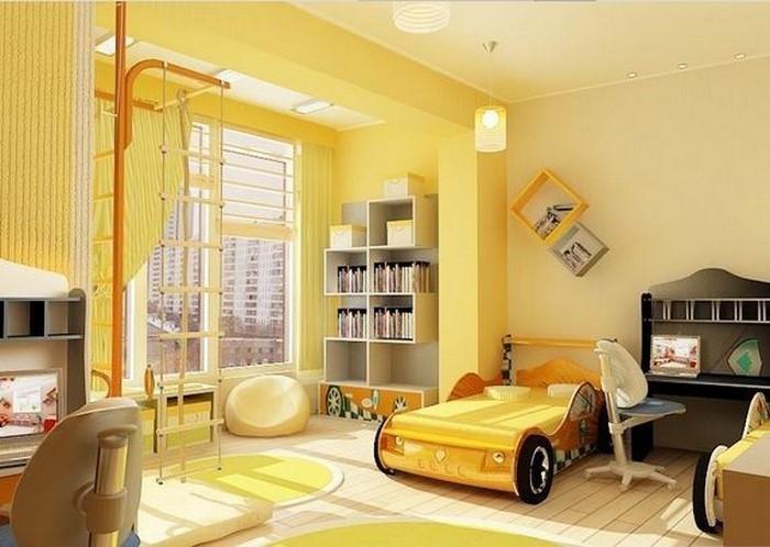 Kinderzimmer-gelb-Eine-coole-Еinrichtung
