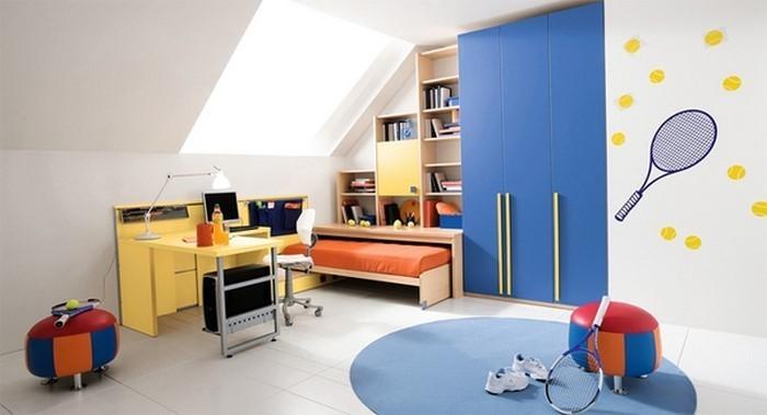 Kinderzimmer-gelb-Eine-coole-Deko