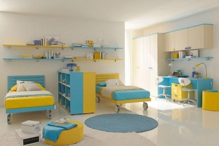 Kinderzimmer-gelb-Eine-kreative-Ausstrahlung