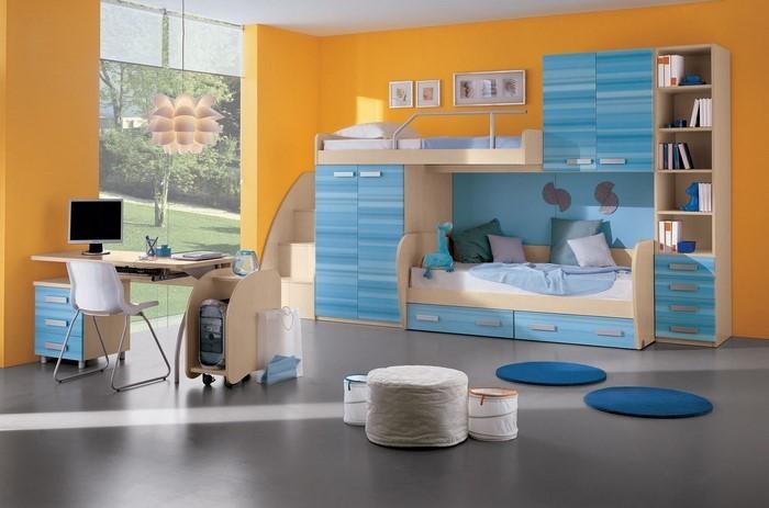 Kinderzimmer-gelb-Eine-kreative-Dekoration