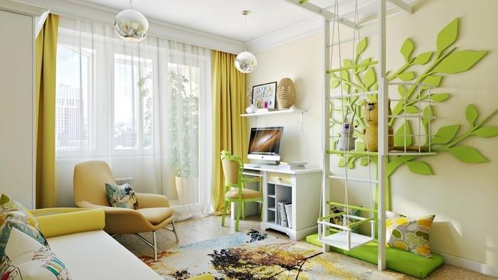 Kinderzimmer-gelb-Eine-moderne-Ausstattung