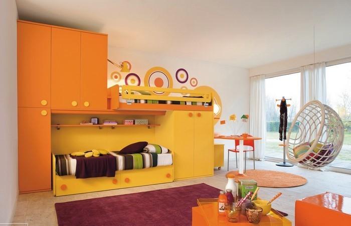 Kinderzimmer-gelb-Eine-moderne-Deko