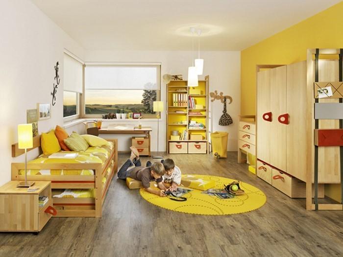 Kinderzimmer-gelb-Eine-moderne-Dekoration