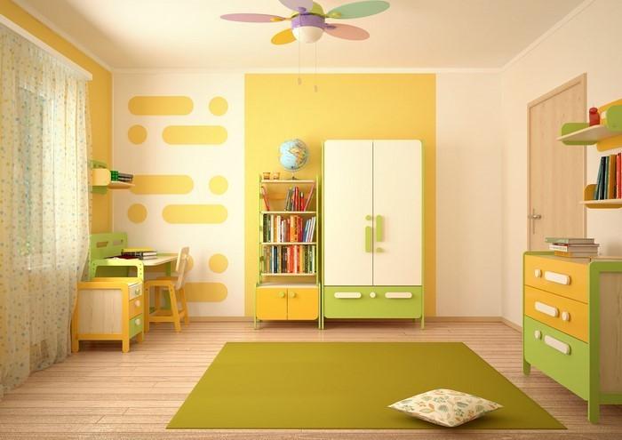 Kinderzimmer-gelb-Eine-moderne-Gestaltung