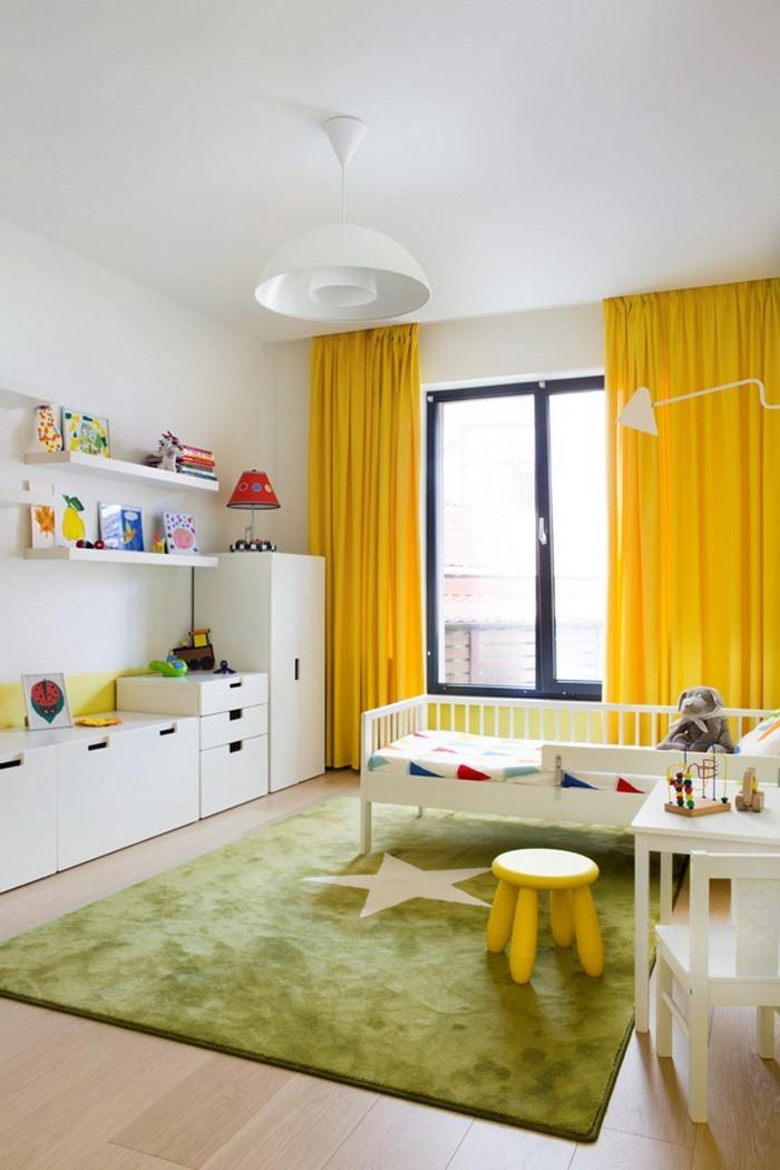 Kinderzimmer-gelb-Eine-super-Еinrichtung