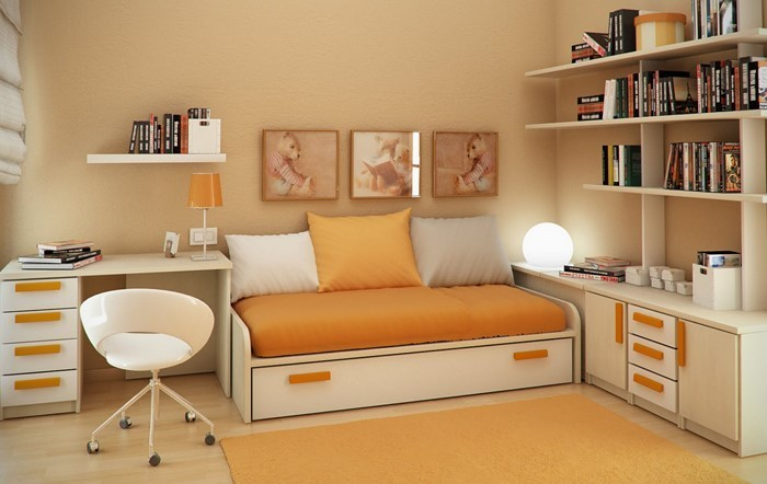 Kinderzimmer-gelb-Eine-super-Dekoration