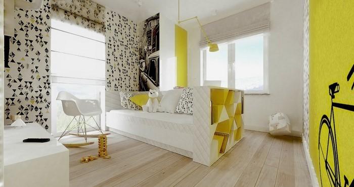 Kinderzimmer-gelb-Eine-tolle-Еinrichtung