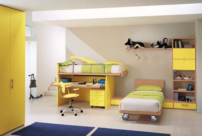 kinderzimmer deko gelb ihr traumhaus ideen. Black Bedroom Furniture Sets. Home Design Ideas