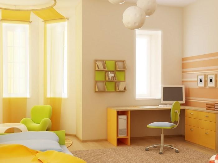 Kinderzimmer-gelb-Eine-tolle-Dekoration