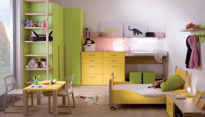 Kinderzimmer-gelb-Eine-verblüffende-Deko