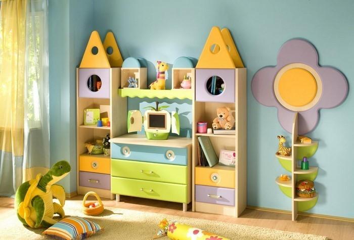 Kinderzimmer-gelb-Eine-verblüffende-Dekoration