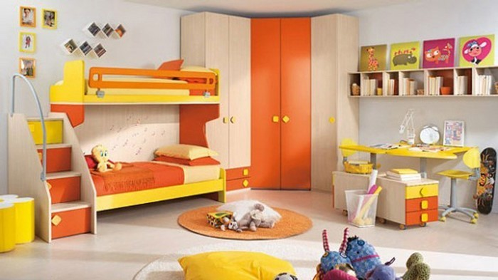 Kinderzimmer-gelb-Eine-wunderschöne-Ausstattung
