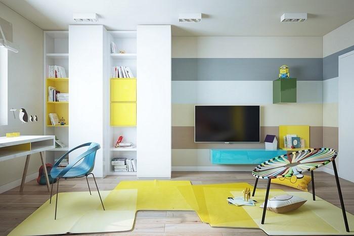 Kinderzimmer-gelb-Eine-wunderschöne-Ausstrahlung