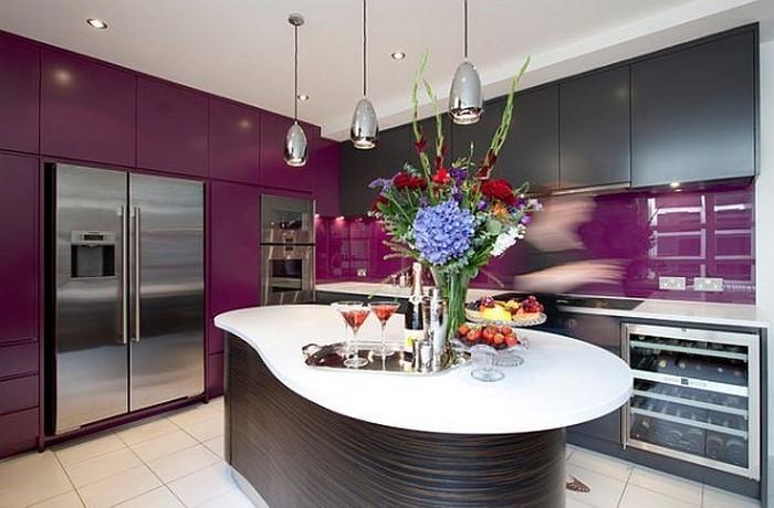 k che in lila einrichten und dekorieren. Black Bedroom Furniture Sets. Home Design Ideas