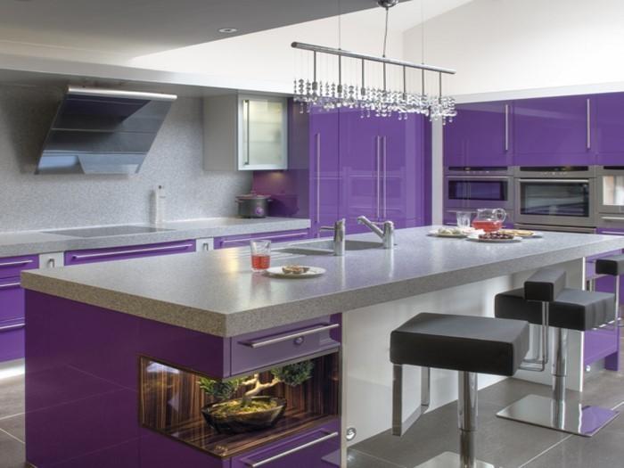 Yarial = Lila Wand In Küche Interessante Ideen für